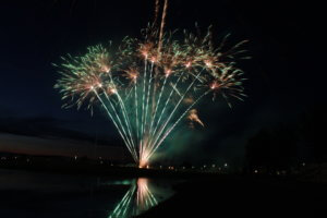 A photo of a fireworks explosion during Ankeny SummerFest.