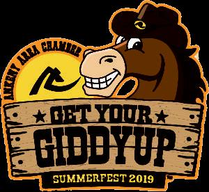 "The 2019 SummerFest theme logo reads, ""Get your Giddyup"""