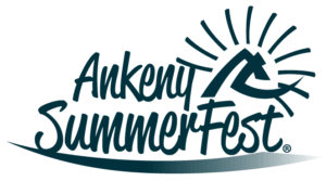 A blue version of the Ankeny SummerFest logo.