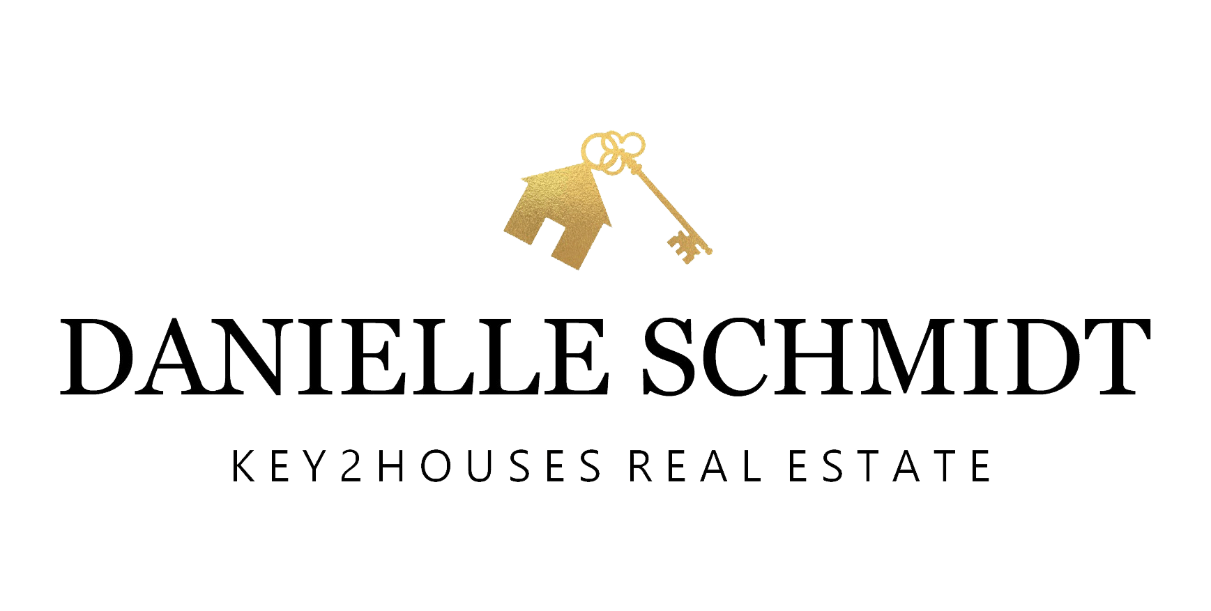 The logo for Danielle Schmidt, Key2Houses Real Estate